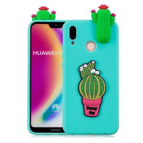 Coque Huawei P20 Lite en silicone - Cactus 3D   Silicon case ...