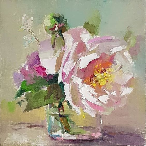 Gabriela On Abstract Floral Paintings Floral Oil Paintings