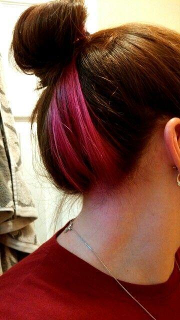 Hair Dyed Underneath Hair Dye In 2020 Hair Color Streaks Hair Dye Stripping Hair Streaks