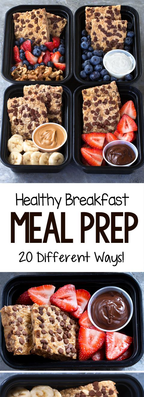 20 Healthy Breakfast Meal Prep Recipes