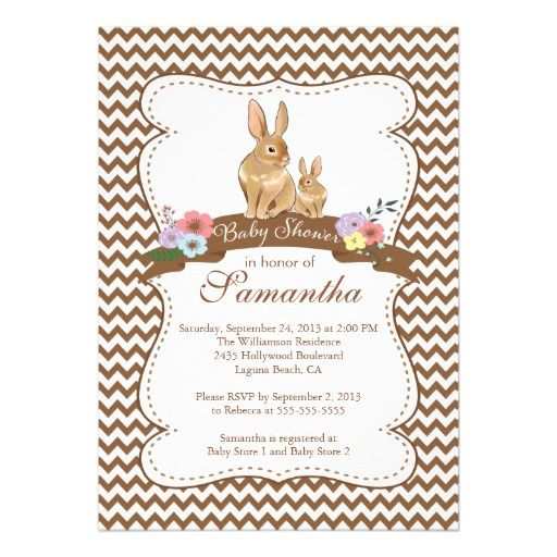 bunny rabbit baby shower invitations bunny baby shower invitations