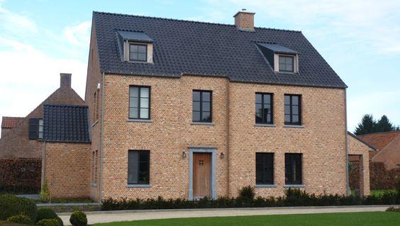 Kempische bouwmaterialen huis exterieur pinterest home ramen and tes - Huis exterieur picture ...