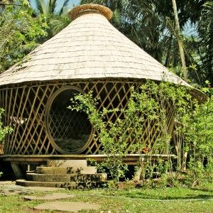tibuku bamboo house  (sort of like a yurt):
