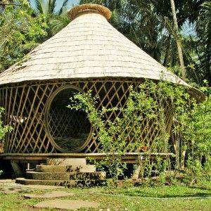tibuku bamboo house  (sort of like a yurt):