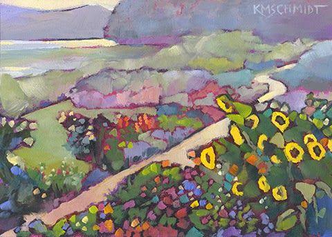 Lakeside Garden Karen Mathison Schmidt 5 x 7 inches • oil