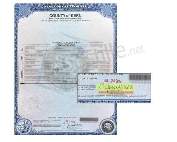 County of Santa Cruz Certificate of Birth signed by Lisa Hernandez - copy fresno california birth certificates