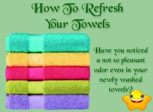 HOW TO REFRESH YOUR TOWELS How can you refresh them once this happens? Simple…
