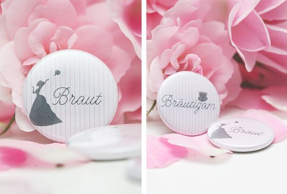 { wedding buttons - give away }