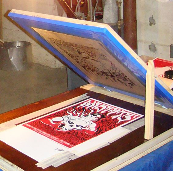Building Your Own Vacuum Table Poster Press Silk Screen