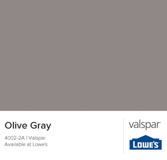 Olive Grey Kitchen: Olive Gray From Valspar