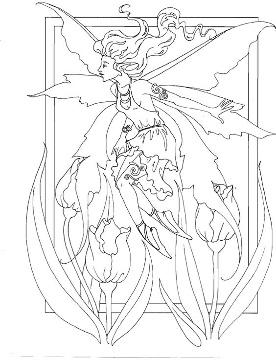 coloring pages of mystical angels - photo#12