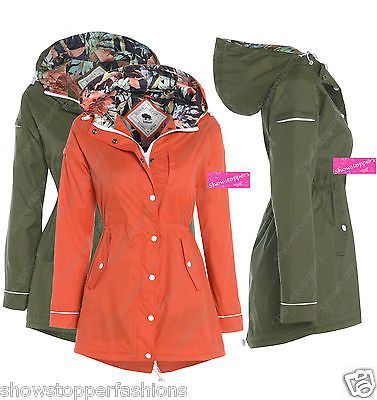 Details about NEW RAIN MAC Waterproof PARKA Womens FESTIVAL ...