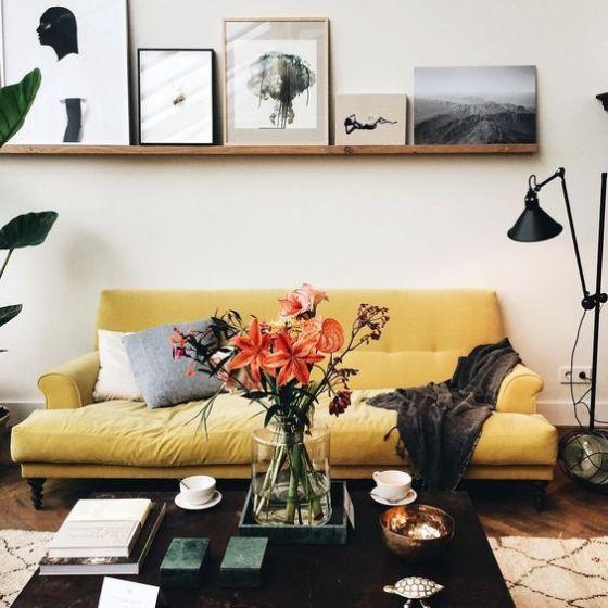 15 Studio Apartment Decor Ideas We Re Loving Living Room Color Schemes Yellow Living Room Living Room Color Living room ideas yellow sofa