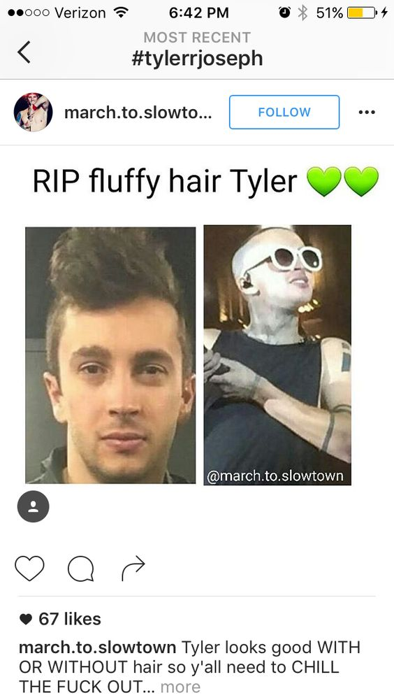TYLER CHANGED HIS HAIR... NO MORE FLUFF!!!