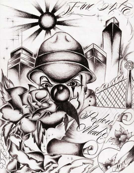 12 Old School Gangster Drawings Chicano Art Tattoos Gangster