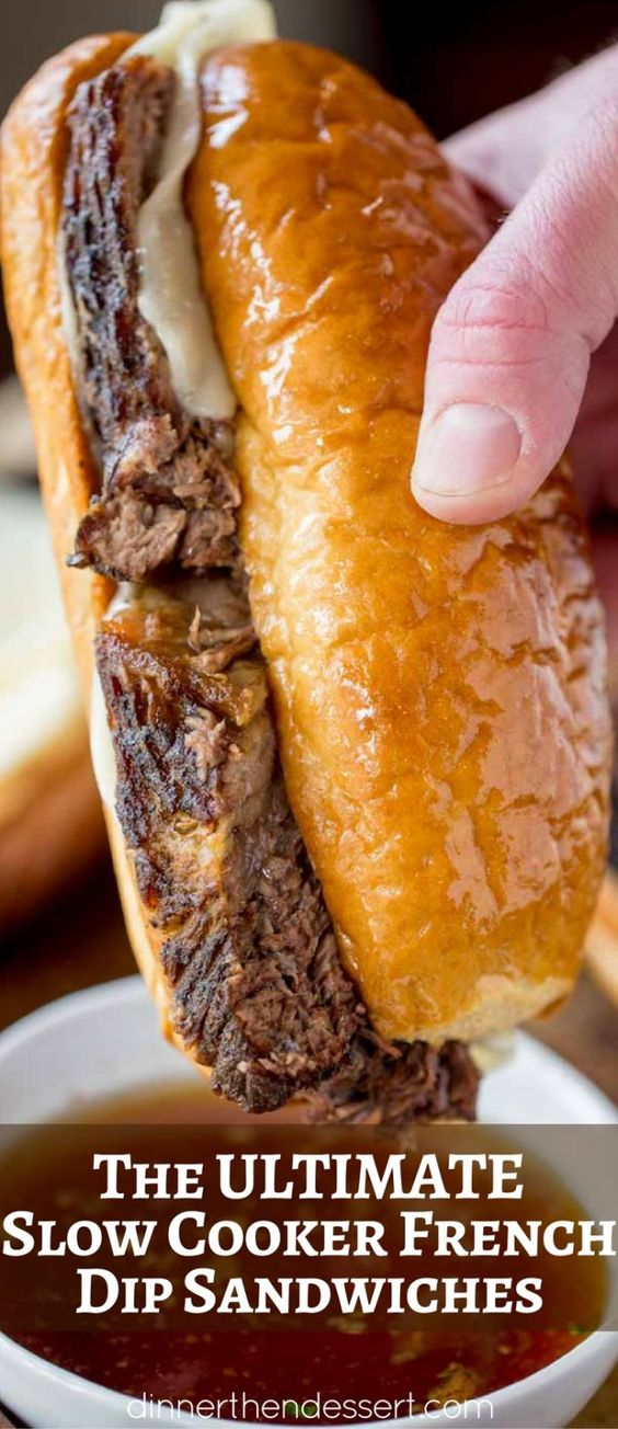 Slow Cooker French Dip Sandwiches