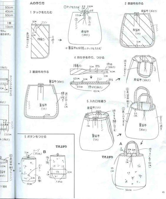 patrones de bolsos de tela para imprimir , Cerca amb Google