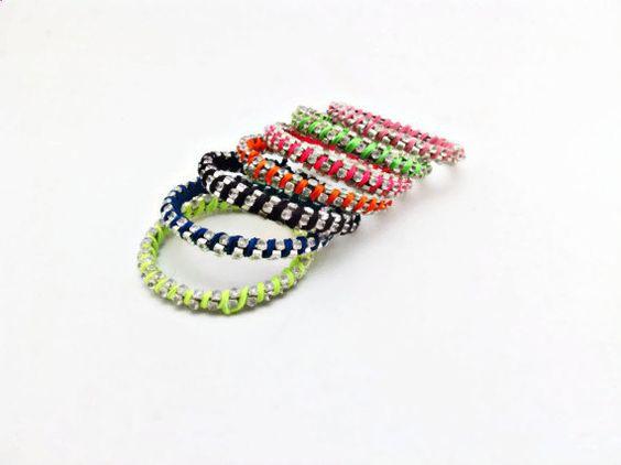 Colourfull bracelet beach bracelet Rhinestone by Themagicofcolors, $18.00
