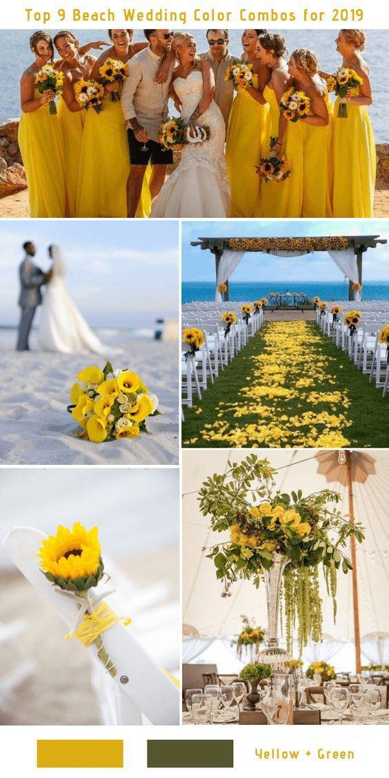 19 Charming Beach And Coastal Wedding Ideas Yellow And Green