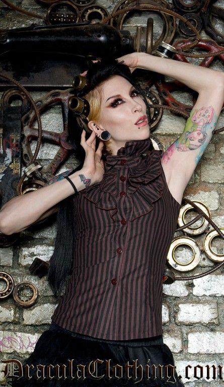 Steampunk Ophelia Blouse