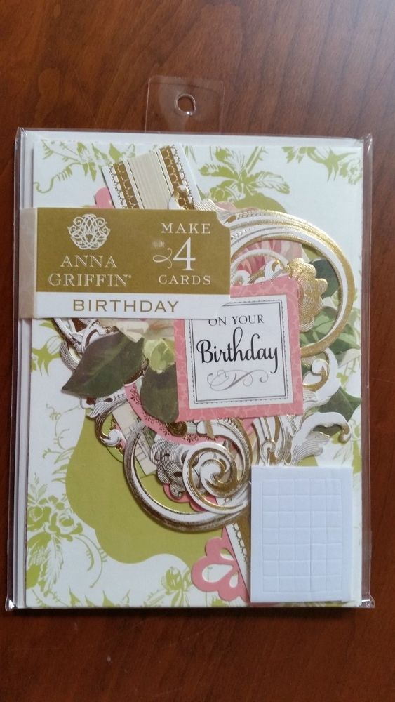 Anna Griffin Card Kit Masculine Vintage For My Friend SB716   Makes 4