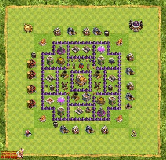 نقشه های جدید بازی کلش اف کلنز ساختمان مرکزی هفت | مپ لول هفت