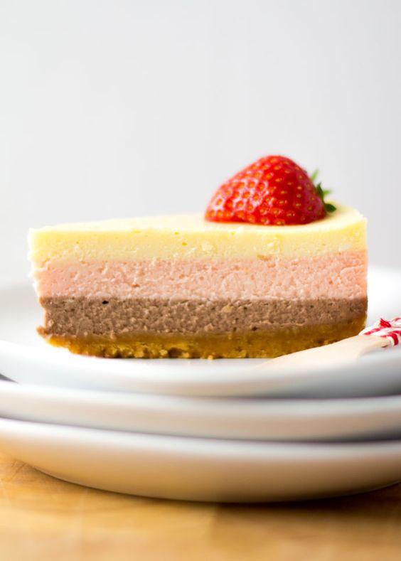 Laagjes cheesecake