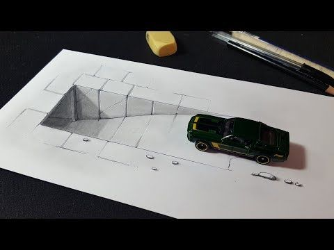 Easy Trick Art With Toy Car And 3d Tunnel Drawing Youtube