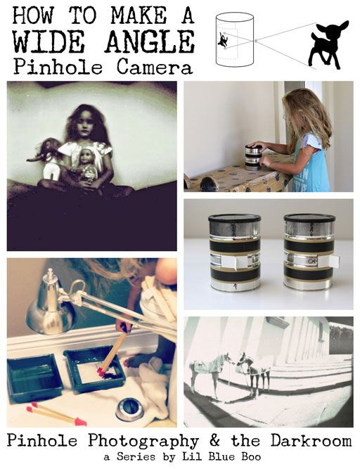 Pinhole Photography: Making A Wide Angle Pinhole Camera via lilblueboo.com --- How much fun would this be to do with the kids!  A project for a rainy day :)