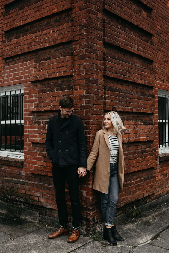 pareja en la calle
