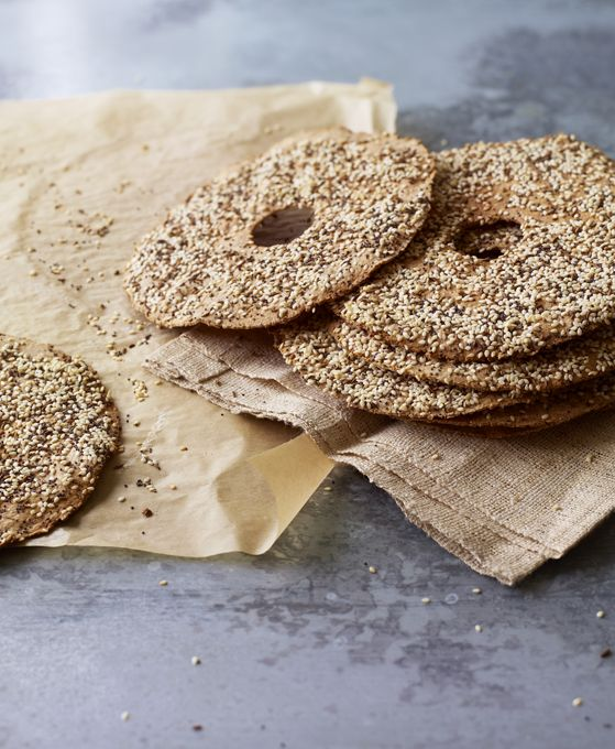 Rye crispbreads are simple to make and a lovely topped with cheese or pâté