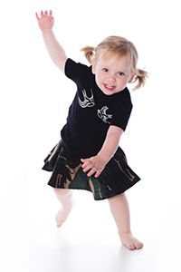 Swallows t-shirt and camo print skirt by #Metallimonsters #alternativetoddlerclothing
