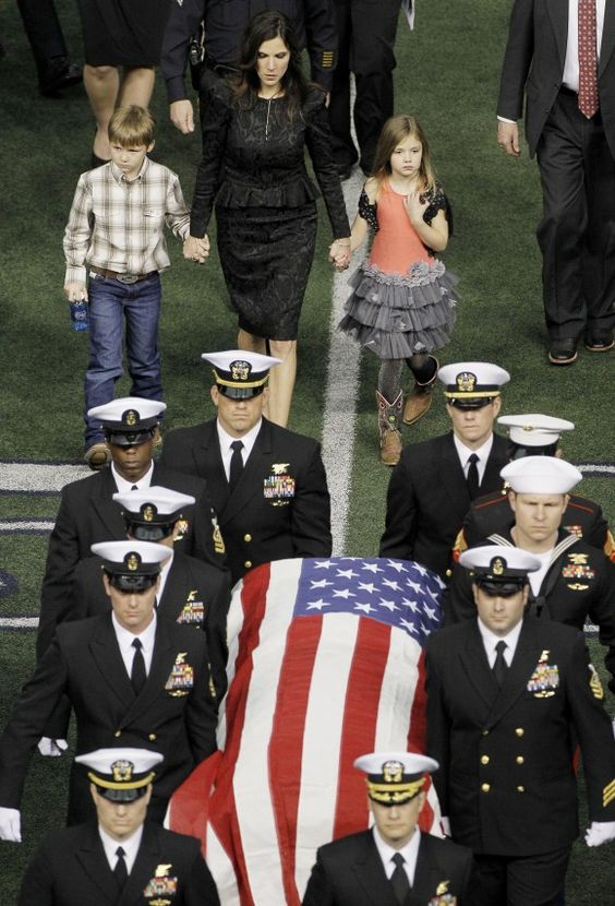 Chris Kyle's memorial. Thank you sir, may God Bless your soul and your beautiful family                                                                                                                                                      More