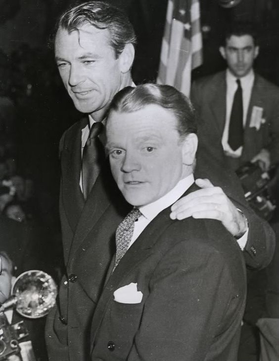 Gary Cooper & James Cagney 1943