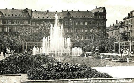 Schlossteichpark 1940 Chemnitz Karl Marx Stadt Teich