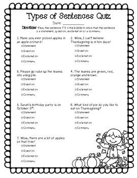 Types Of Sentences With Images Types Of Sentences Types Of
