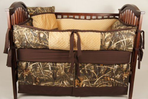 Hunting Nursery Ideas | Custom Made Baby Crib Bedding Advantage max 4 Camo