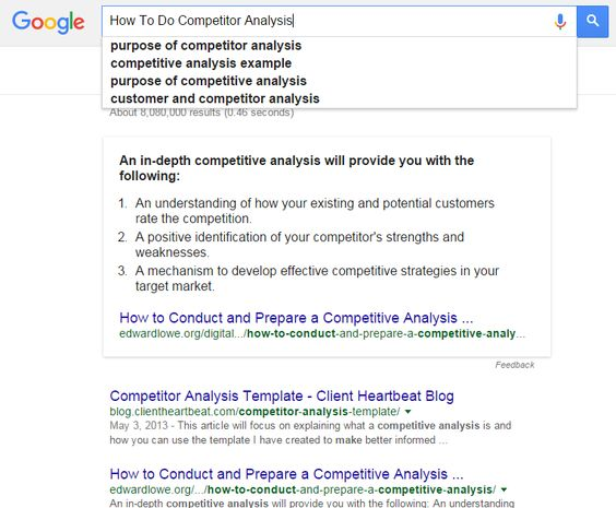 Competitoru0027s analysis Competitoru0027s Analysis Pinterest Seo - competitive analysis example