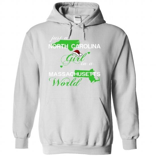 Just A North Carolina Girl In A Massachusetts World T Shirts, Hoodies. Get it now ==► https://www.sunfrog.com/Valentines/-28NCNoelXanhChuoi002-29-Just-A-North-Carolina-Girl-In-A-Massachusetts-World-White-Hoodie.html?57074 $39