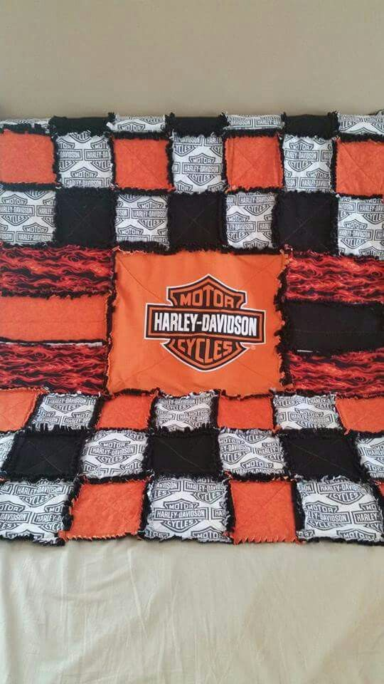 Rag Quilt Harley Davidson And Craft Rooms On Pinterest