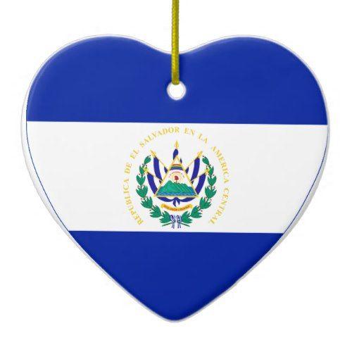El Salvador Flag Heart Ceramic Ornament Zazzle Com In 2021 El Salvador Flag Ceramic Ornaments El Salvador