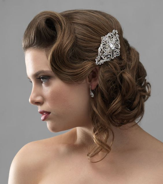 Old Fashioned Wedding Hairstyles: Old Hollywood Glamour! Accessories By Usabride.com