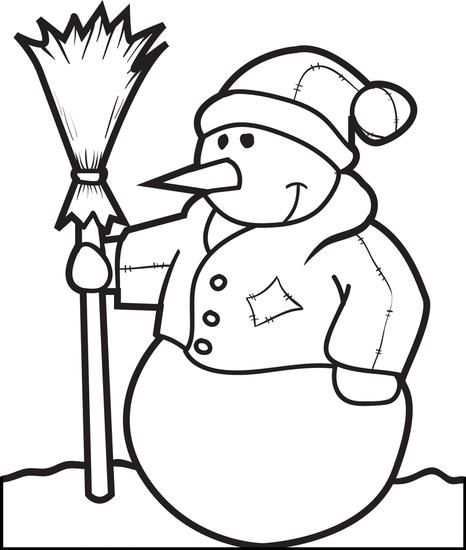 Printable Snowman Coloring Page For Kids Snowman Coloring Pages Coloring Pages Coloring Pages For Kids
