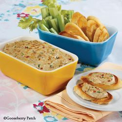 warm blue cheese and bacon dip