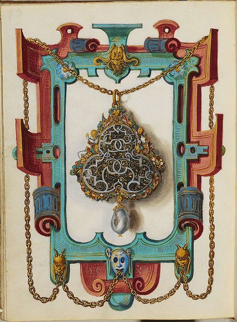 Jewel Book of the Duchess Anna of Bavaria (1550s) x by peacay, via Flickr: