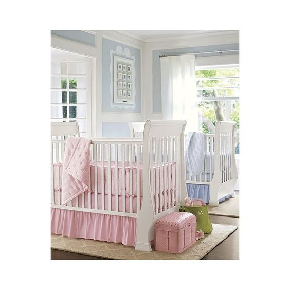 Shared Spaces Nursery | Pottery Barn Kids ❤ liked on Polyvore featuring house and rooms