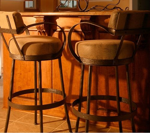Rustic Counter Stool Wrought Iron Bar Stools With Arms Iron