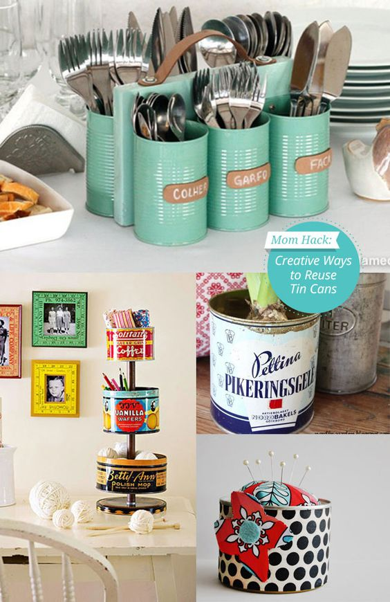 Have old cans laying around? Try #upcycling them in to eco-friendly art with one of these 12 easy kid-friendly #crafts #diy: