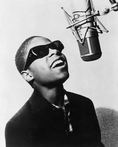 Little Stevie Wonder. I remember him when they toured back in the 60s. Watching him on the telly, never forget him.
