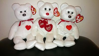 TY Beanie Baby Valentino & Truly Retired *Bundle of 3*